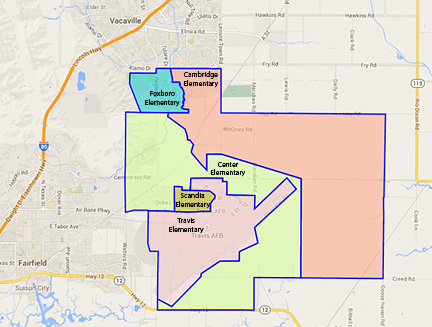 District and elementary school boundary map