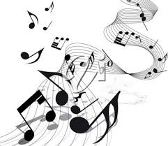 Clip art picture of a musical note
