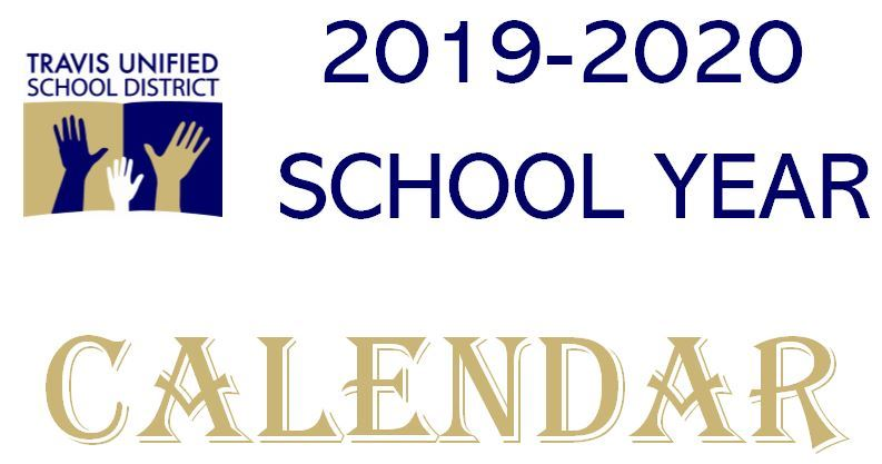 Travis USD Logo 2019-2020 School Year Calendar