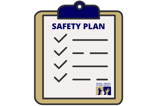 clipboard with blank checklist titled safety plan