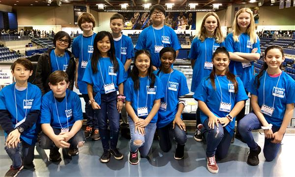 Travis Elementary students at RoboPlay competition