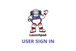 Launchpad User Sign In image of astronaut
