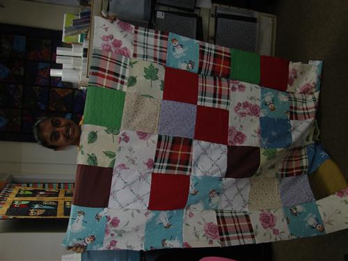 making quilts for kids on Sunday at A Quilted Heart