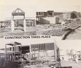 Historical photos of the construction of Foxboro Elementary School
