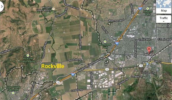 Modern aerial view of current Rockville area