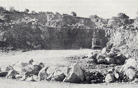Historical photo of Nelson quarry