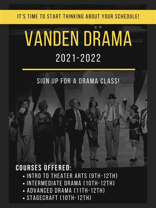 Sign up for a Vanden Drama class!