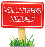 Picture of a sign reading volunteers needed