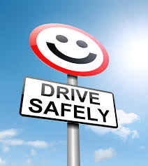 Drive Safely Sign with smiley face